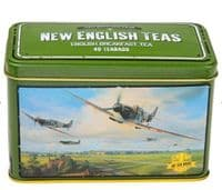Spitfire Tea Tin with 40 English Breakfast teabags